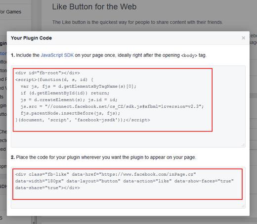 Zdrojový kód k like buttonu