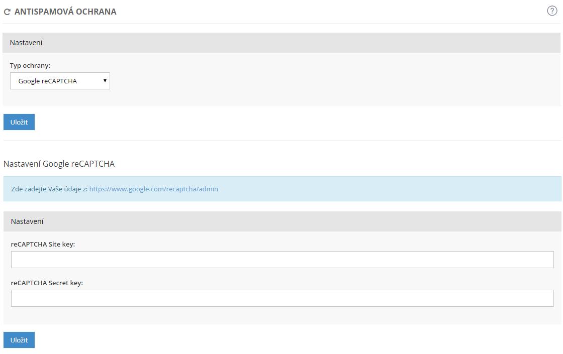 nastavení vlastní webové stránky pro seznamování