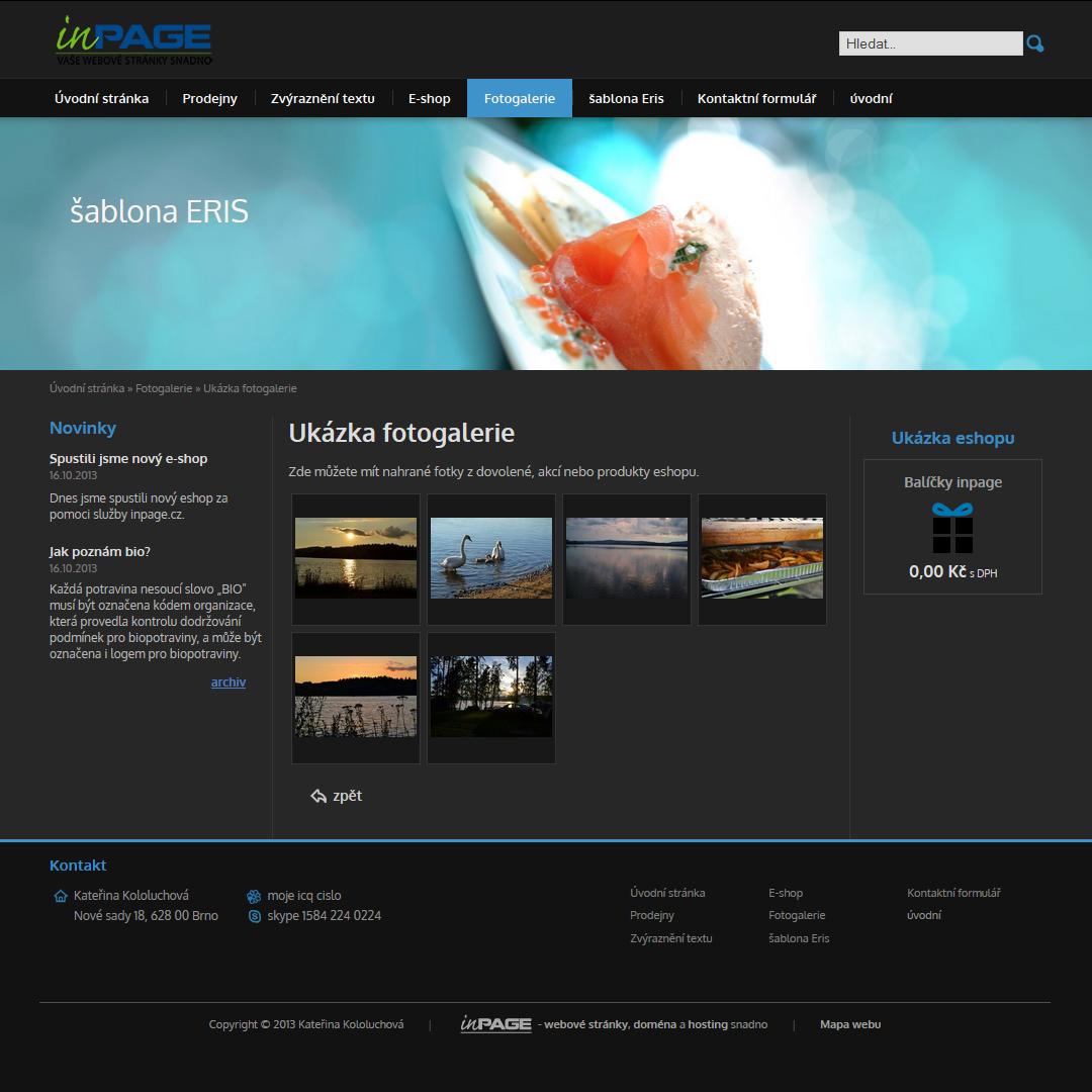 Nová šablona ERIS - redakční systém inPage  323dff7f975
